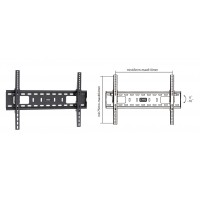 "BRATECK 37-70"" Tilt Wall Mount Bracket 75kg"