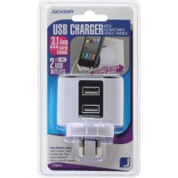 JACKSON Pocketsized USB Charging Outlet, 2x USB Charging Outlets (3.1A total)