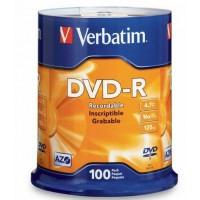 Verbatim DVD-R 4.7GB 16x 100 Pack on Spindle