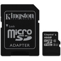 Kingston 16GB microSDHC Canvas Select 80R CL10 UHS-I Card + SD Adapter