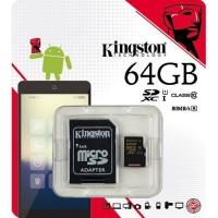 KINGSTON 64GB microSDXC Class 10 UHS-I 80R Flash Card Far East Retail