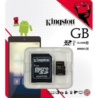 Kingston 64GB microSDXC Canvas Select 80R CL10 UHS-I Card + SD Adapter